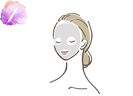 炭酸泉マスクの使い方1